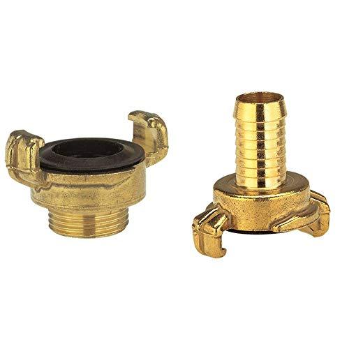 Gardena Messing-Schnellkupplungs-Gewindestück mit Außengewinde: Schlauchanschluss, 42 mm (G 1 1/4