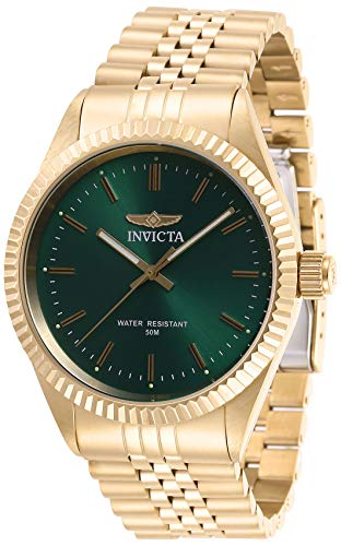 Invicta Men's Specialty Quartz Watch with Stainless Steel Strap, Gold, 22 (Model: 29385)