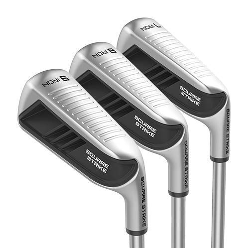 Square Strike Irons - 7, 8, 9 Irons - Iron Set for Men & Women (Right, Graphite, Regular)