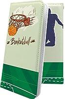スマートフォンケース・Xperia Ace/SO-02L・互換 ケース マルチタイプ マルチ対応スマートフォンケース・手帳型 バスケ バスケット バスケットボール ボール スポーツ デザイン イラスト エクスペリア エース 手帳型スマートフォンケース・ユニーク おもしろ おもしろスマートフォンケース・xperiaace so02l かっこいい [hxj5566sUn]