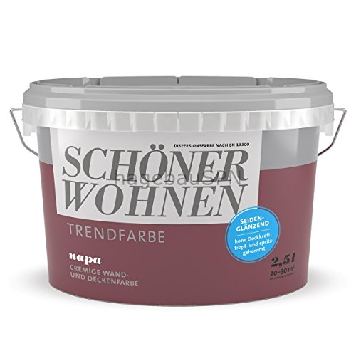Schöner Wohnen Trendfarbe Napa 2,5 l seidenglänzend