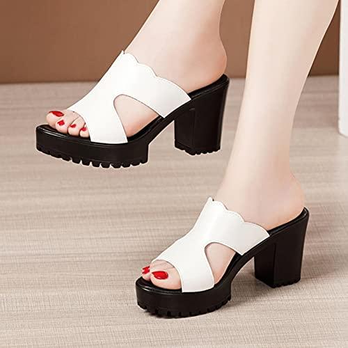 Zapatillas con Plataforma de tacón, Zapatos de Boda para Mujer, Verano 2021,...