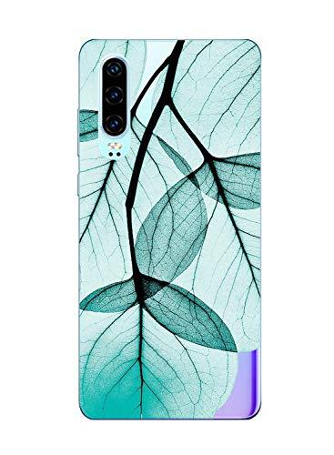 Suhctup Compatible con Huawei P8 Lite 2017 Funda Flor de TPU Transparente Diseño de Flores Patrón Cárcasa Ultra Fina Suave con Dibujos Claro Silicona Antigolpes Proteccion Caso(A6)