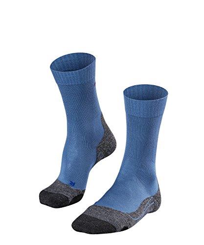 FALKE Herren Wandersocken TK2 Cool, Sport Performance Material, 1 Paar, Blau (Iron Blue 6640), Größe: 46-48