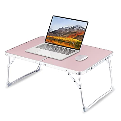 Foldable Laptop Table for Bed, SUVANE Lap Desk Bed Desk, Breakfast Serving Bed Tray, Portable Mini Picnic Table Storage Space Laptop Desk Reading Holder(Pink) is $21.99 (12% off)