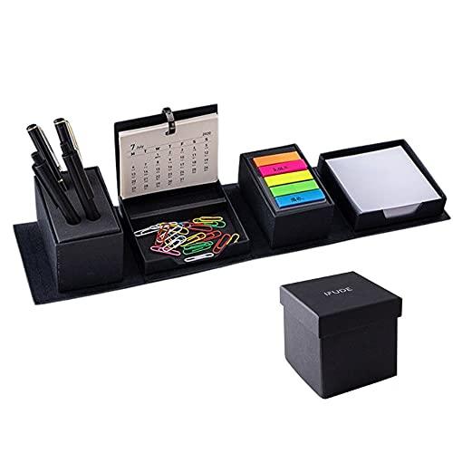 IFUDE多機能マジック付箋ボックス カレンダー メッセージ メモインデックス ペーパークリップ ペンホルダー 卓上 折りたたみ 文房具収納ボックス