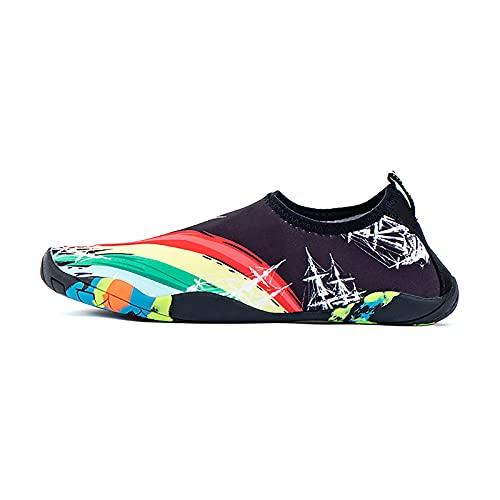 XYZLEO Unisex Zapatos de Agua, Deportes Acuáticos Calzado de Secado rápido Surf Snorkel Playa Buceo Yoga Piscina, Natación Escarpines