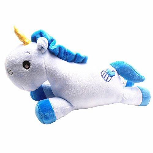 Aardvark Art Licorne peluche coussin animaux doux cadeaux (Blue)