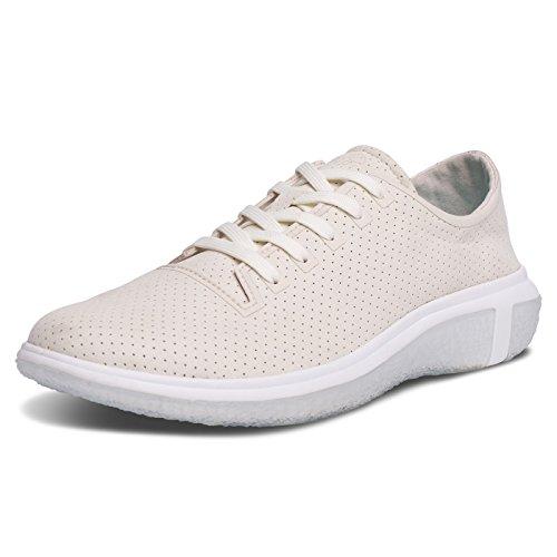 BluPrint LA Costa Sneaker für Herren, modisch, zum Laufen und Wandern, Wolkenaufdruck, Komfort-Technologie, Salz Elfenbein, 9,5 D (M) US