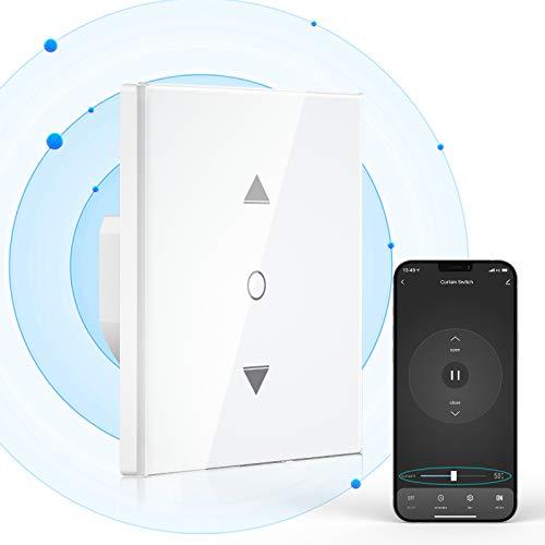 【5th Generation】 Maxcio WLAN Rolladenschalter mit Prozentfunktion, Smart Rolladen Zeitschaltuhr, Schaltbares LED Smart Rolladen Schalter, Kompatibel mit Alexa und Google Home, APP Steuerbar