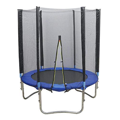 Fetcoi 150cm Trampolin,Außen Trampolin mit Schutznetz,Gartentrampolin,Kinder Übung Trampolin Robust, sicher, für Kinder über 3 Jahre