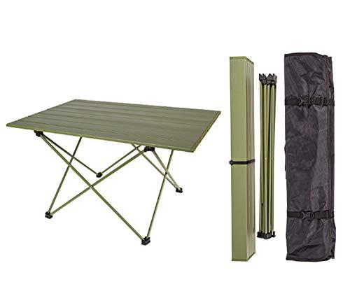 Mesa de Camping Portátil Ligera Mesa Plegable de Aluminio Mesas Compactas Enrollables con Bolsa de Transporte para Acampar al Aire Libre Senderismo Picnic Mochilero,L