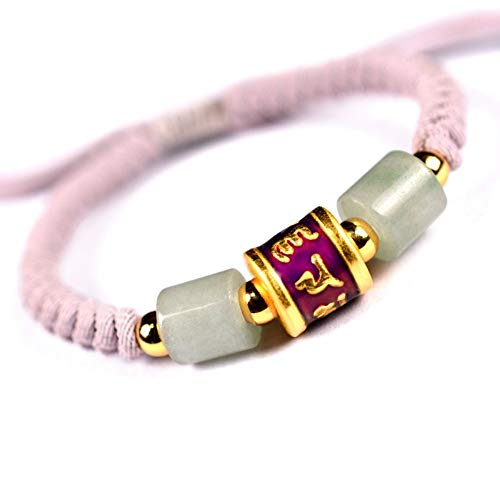 ESCYQ Männer Armbänder Armband Bettelarmband,999 Silber Sechs Zeichen Temperatur Induktion Farbe Ändern Männer Rosa Armband Armband Hand-Woven Hand Mit Zum Geburtstag Geschenk