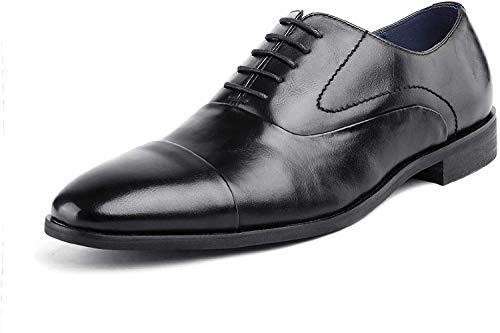 Bruno Marc Hutchingson_1 Zapatos de Cap Toe Oxford Vestir Clásico para Hombre Negro 40 EU/7.5 US
