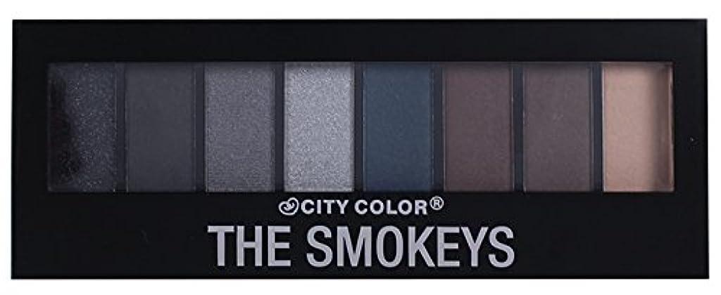 曖昧なクレーンメニューCITY COLOR The Smokeys Eyeshadow Palette (並行輸入品)