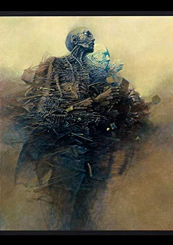 Serpent Publishing Zdzisław Beksiński Zdzislaw Beksinski - Póster de futurismo barroco gótico de bellas artes, papel brillante, tamaño A3, sin marco [BEKS086]