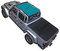 New SPIDERWEBSHADE Jeep Gladiator Mesh Shade Top Sunshade UV Protection Accessory USA Made with 10 Year Warranty for Your JT 4-Door (2018 - current) TEAL
