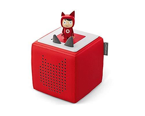 Toniebox Starterset in Rot: Toniebox + Kreativ-Tonie - Der tragbare Lautsprecher für Tonies Hörfiguren und Kreativ Tonies - Für Kinder ab 3 Jahren - DEUTSCH
