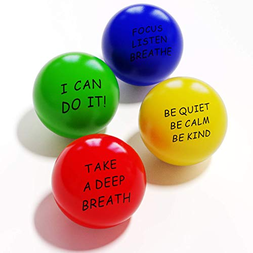 ALMAH Motivational Stress Relief Balls(4 Pack with Quetos)