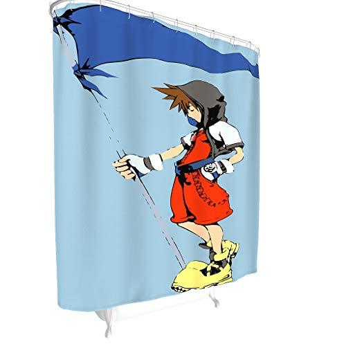 Toomjie Sora Holding Vlag Creatieve Thuis Ideeën Douche Gordijn Liner voor College Dorm Klassieke Machine Wasbare Bad Gordijnen Badkuip gordijnen Gift voor familie