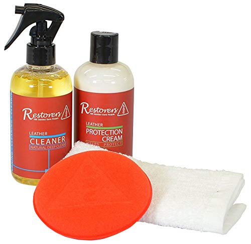 Restorers Deep Leather Cleaner & Protection Conditioner Care Kit for Cleaning & Protecting Car Interiors, Furniture Suite, Sofa, Settee, Jackets & Leather Items, 2x 500ml - Leather Repair Company