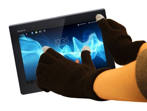 """DURAGADGET Gants capacitifs spécial Froid pour écran Tactile de Tablette Sony Xperia et Xperia Tablet Série S (9.4"""") - Taille S (Petit)"""