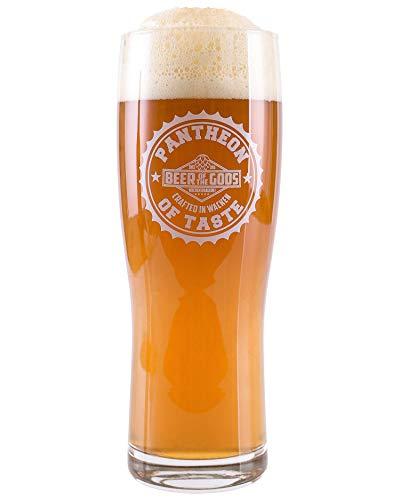 Vasos de cerveza Wacken Brauerei Stout Craft Beer of the Gods, aptos para lavavajillas, 300 ml, con marca de nivel, vidrio de cerveza para IPA – Pale Ale, juego de vasos de cerveza artesanal