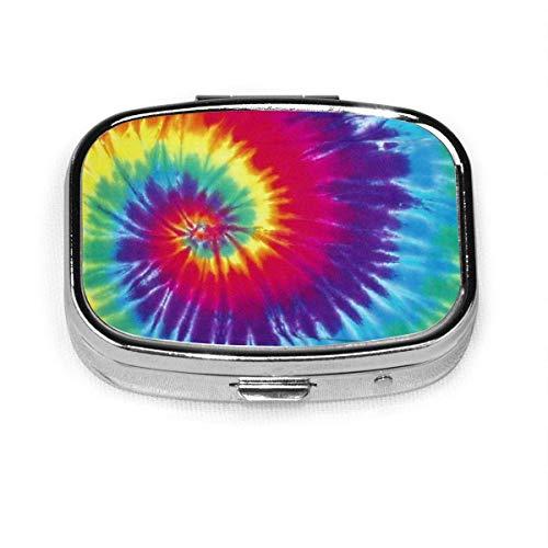 Tie Dye Stoff quadratische Pille Fall tragbare Box Tasche Geldbörse Tablet Medizinhalter Reiseorganisator Fälle