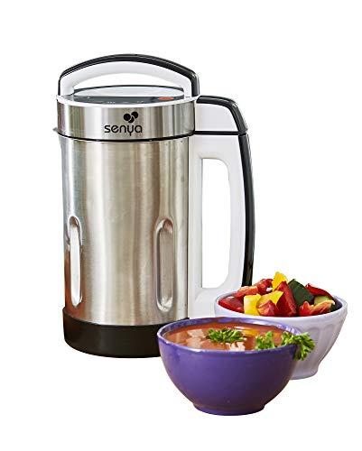 petit un compact Mélangeur Senya INOX pour cuire et réchauffer la soupe chaude, 1,6 l