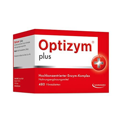 OPTIZYM plus Enzym-Komplex I 6-fach Enzyme in Kombination (Papain, Bromelain, Pankreatin, Rutin, Trypsin und Chymotrypsin) Hochdosiert - 480 Tabletten