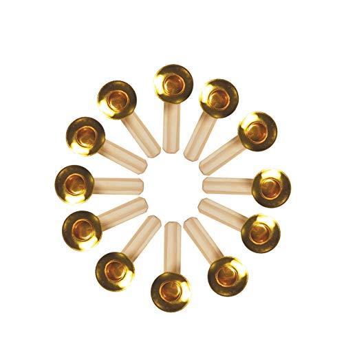 OBC-Kunsthandwerk Kerzenhalter, H: 60 mm x W: 15 mm, Natur, 6 Stück