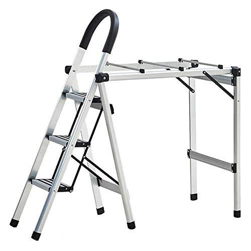 TONGSH Paso 3 Escalera Plegable Escalera Aluminio