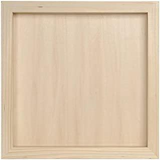 Darice 97824 Unfinished Wood Shadow Box, 12-1/2-Inch