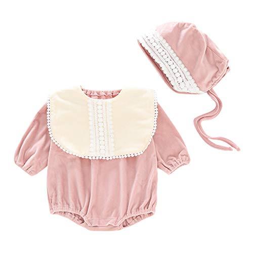 NINGYE Baby Mädchen Langarm Strampler mit Hut Säugling Outfits Neugeborene...