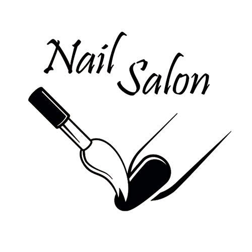 Nail Salon Vinyle Sticker Manucure Vernis À Ongles De Mode Femme Filles Stickers Muraux Murales Beauté Salon Art Décor À La Maison Mural 48x42cm