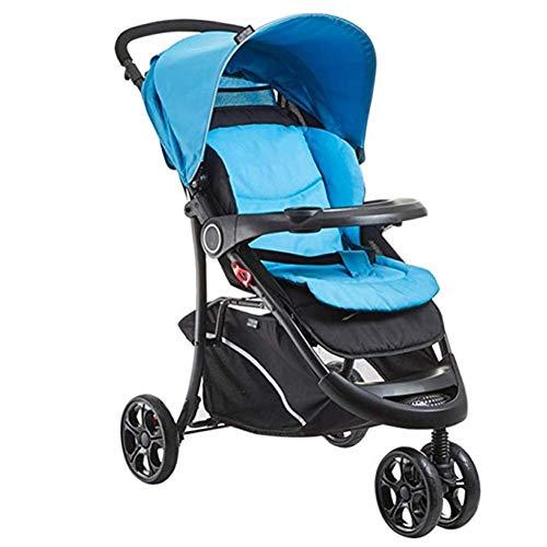 Best Buy! Goquik Stroller 3-Wheel High Landscape Travel System Car from Birth, 90x96cm (Color : Blue)