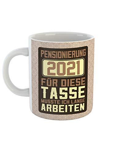 clothinx Pensionierung 2021 Tasse Mit Spruch Ideal Für Die Verabschiedung In Den Ruhestand und die Pension