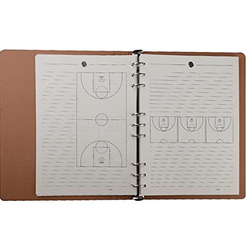 QQAA Plan de Juego de Entrenamiento de Baloncesto Tablero Táctico Cuaderno de Lección de Baloncesto Cuaderno de Entrenador