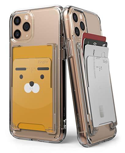 Ringke Kartenhalter für Smartphones, selbstklebende Hülle, minimalistisch, dünn, hart, Premium-Kreditkarten-Hülle, klarer Nebel