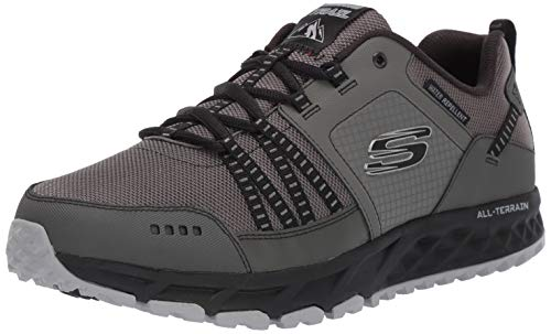 Skechers Men's Escape Plan Trainers, Grey (Charcoal/Black), 10 UK 45 EU