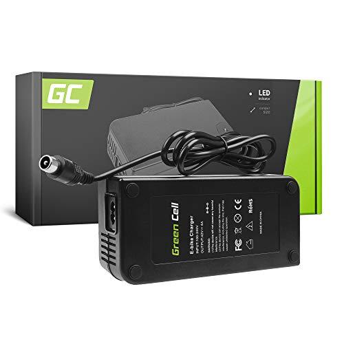 Green Cell® Cargador (42V 4A 168W) para Whistler Xplorer Yamaha Zündapp E-Bike Bicicleta Eléctrica Li-Ion Batería (Conector RCA)