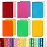 EOOUT 24pcs Mini Pocket Notebooks, Colorful Notebooks, Lined Notepad, Mini Memo Notepad, 3.5'x5.5', 12 Colors for Students, Traveler, Kids, Women, School Supplies