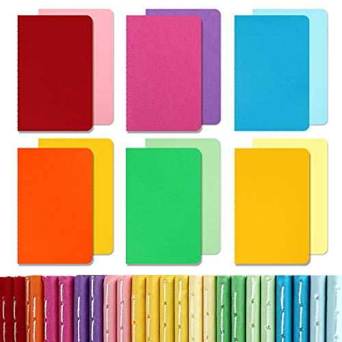 "EOOUT 24pcs Mini Pocket Notebooks, Colorful Notebooks, Lined Notepad, Mini Memo Notepad, 3.5""x5.5"", 12 Colors for Students, Traveler, Kids, Women, School Supplies"
