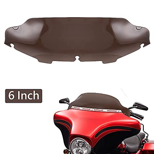 OUMURS 6' 8' Inch Wave Windscreen Windshield Batwing Fairing Extender For Harley Touring 1996-2013 Electra Road Glide Street Ultra Classic Motorcycle Accessories Wind Splitter Deflector Slipstreamer