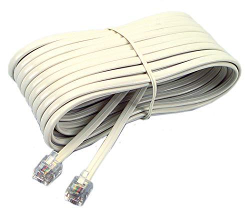 Softalk 48106 Phone Line Cord 7-Feet Ivory Landline Telephone Accessory