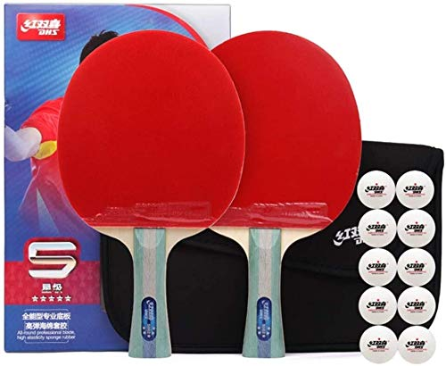 Best Review Of CHENXU Pong Paddle Set Ping Pong Paddle 5 Stars Professional Table Tennis Bats Suitab...