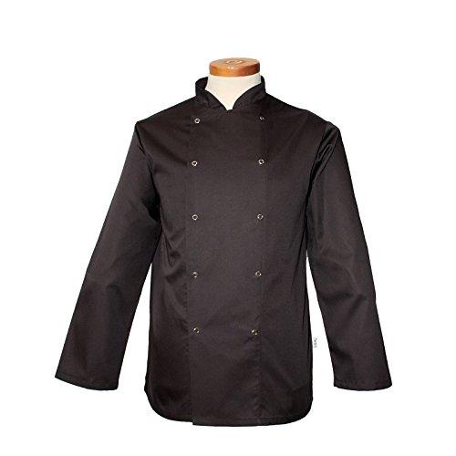 Denny 's dd16C-2X L AFD Chef 's Jacke, Regular Fit, 2X Große, schwarz