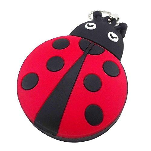 Aneew coccinella pendrive USB 2.0Flash Drive memory stick pollice insetto rosso Ladybug 16 Gb
