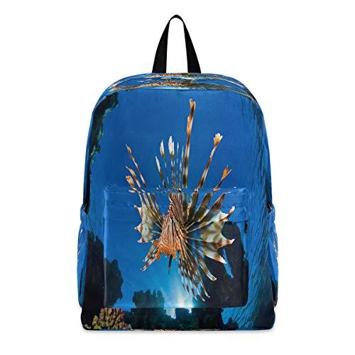 Laptop Backpack Lionfish Best School Shoulder Backpacks Bag Bookbag Lightweight
