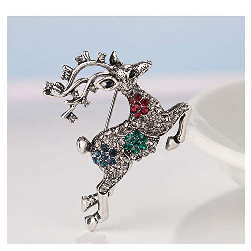 KAERMA - Broche esmaltado con diseño de Papá Noel de Año Nuevo,...